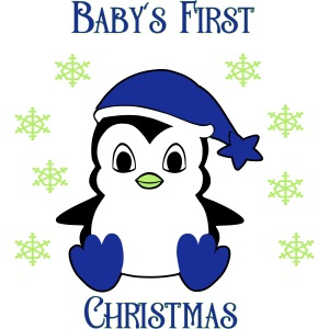 Penguin boy first christmas
