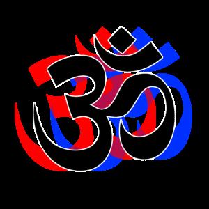 3D Om Goa Psytrance Buddhismus Symbol Party