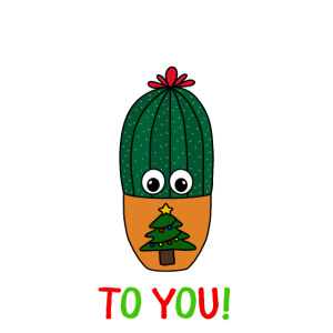 Merry Cactus To You - Cactus In Christmas Tree Pot
