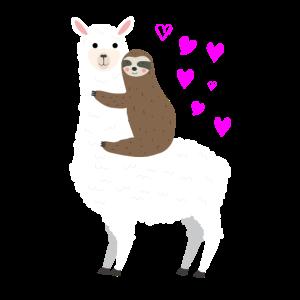 Alpaca Faultier Liebe