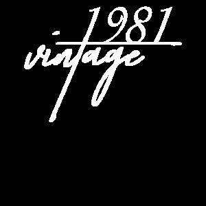 Vintage 1981. 1981 Geburtstagsgeschenk