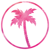 palm tree pink design