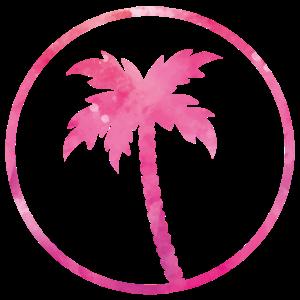 palm tree pink design