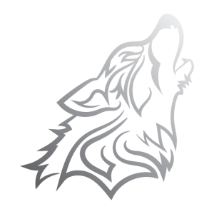 Howling Wolf - Funny Graphic Silvered Wolf Design