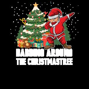 Lustig Dabbing Weihnachtsmann Santa Dab Geschenk