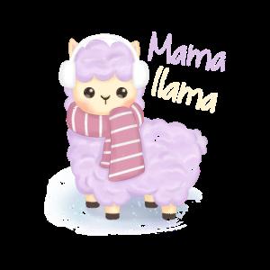 Mama Llama Mom Mutter Lama Alpaka