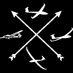 Kompass Segelflieger gleiten Pilot Segelflugzeug