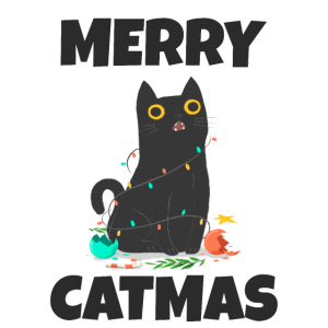 Merry Catmas Katze Weihnachten Geschenk Miau Shirt