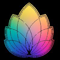 Bunte Abstrakte Yoga Geometrie Blüte / Blume