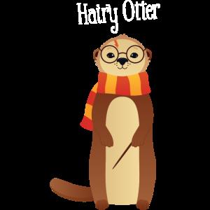 Hairy Otter - Cute Illustration