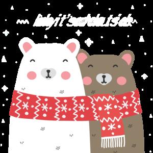 Kuschelnde Eisbären Weihnachten