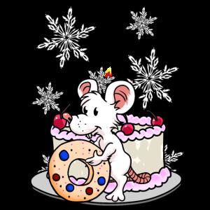 Xmas Weihnachten Maus naschen Suessigkeiten Fantas