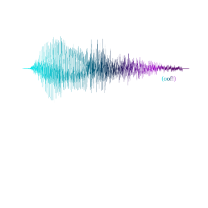 Audio-Visualisierung (Tonspur) - Sound: OOF!