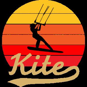 Kitesurfing Kitesurfer Surfen Retro Vintage