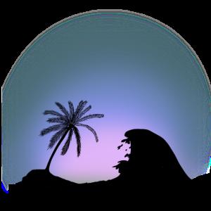 Strand Palmen Südsee Karibik Urlaub Fantasy