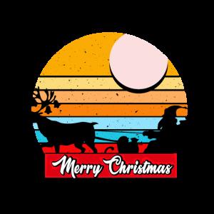 Merry Christmas mit Weihnachtsschlitten