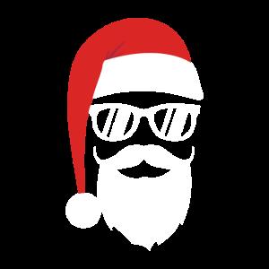 Hipster Santa Weihnachtsgeschenk Bart Nikolaus
