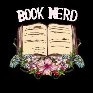 Book Nerd Leser Bücherwurm Geschenk