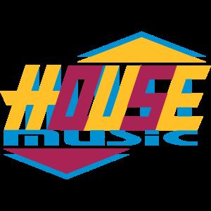 stylische House Music Design Typografie