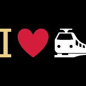 ★ Designfarben änderbar ★ I love trains