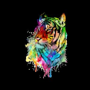 Tiger Aquarell Großkatze Raubkatze Geschenk