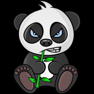 grumpy panda, panda bear, mad panda, for babies