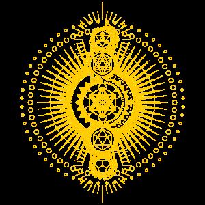 Heilige Geometrie Metatrons Würfel Gold Transzendenz