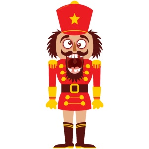 A Christmas nutcracker is a tooth cracker