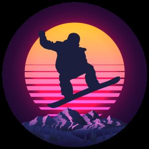 Snowboard Snowboarder Wintersport Retro