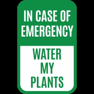 Im Notfall Wasser Meine Pflanzen