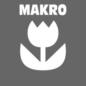 Makro Makrofotografie Icon Symbol weiß