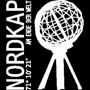 NORDKAP AM ENDE DER WELT WELTKUGEL NORWEGEN Norway