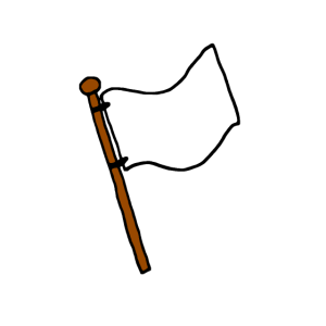 Weiße Flagge, Fahne