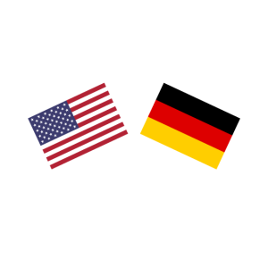 USA Deutschland gekreuzte Flaggen Freundschaft
