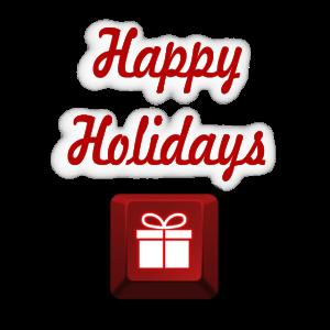 Frohe Feiertage Geschenk der roten Taste