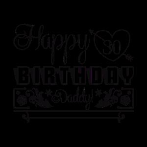 Alles Gute zum 30. Geburtstag Papa