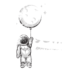 50th Anniversary Moon Landing Spaceman Space