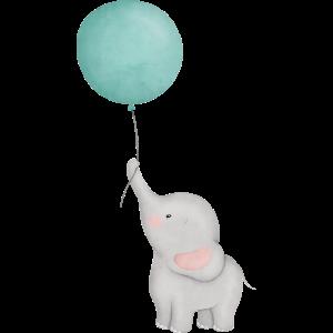 Baby Elefant mit Ballon