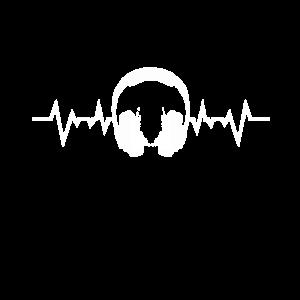 Koepfhoerer Sound Heartbeat Sound Wellen Musik