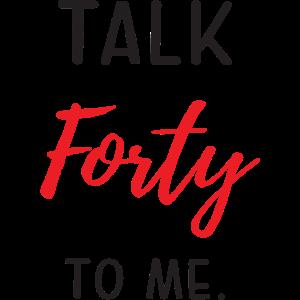 Rede vierzig mit mir