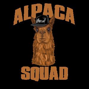Alpaka lustiges Alpaca design Alpaka squad