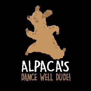 Alpaka Sport Tanzen Alpakas