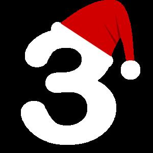 3 mit Nikolausmuetze und Weihnachtsmuetze