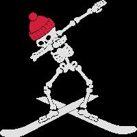 Dab dabbing skeleton ski skiing