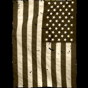 USA Flagge vintage Stars and Stripes