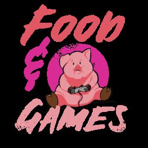 Food Games Pig Gamer Gaming Schweinefleisch