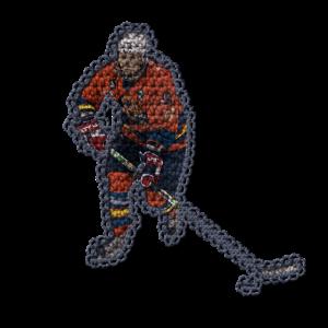 Gehäkelte Eishockey Spielerin