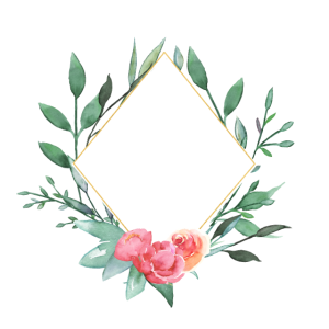 Personalisierbar Blumen Hexagon