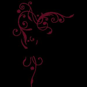 Blumenranke. Blumen mit filigranem Ornament.