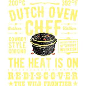 Dutch Oven Chef Vintage gelb